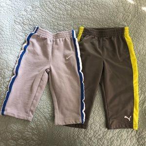 Nike puma athletic toddler 18month pant set